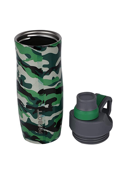PROBOTT Stainless steel double wall vacuum flask PB 400-02 400 ml Bottle (Colour May Vary)-GREEN-5