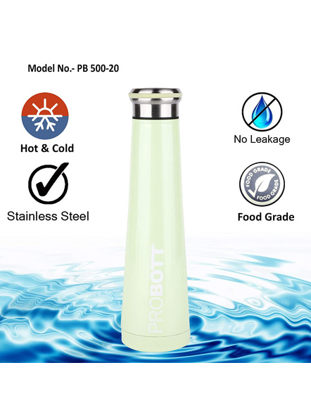 PROBOTT Thermosteel Flask 500ml - PB 500-20 (Colour May Vary)-GREEN-4