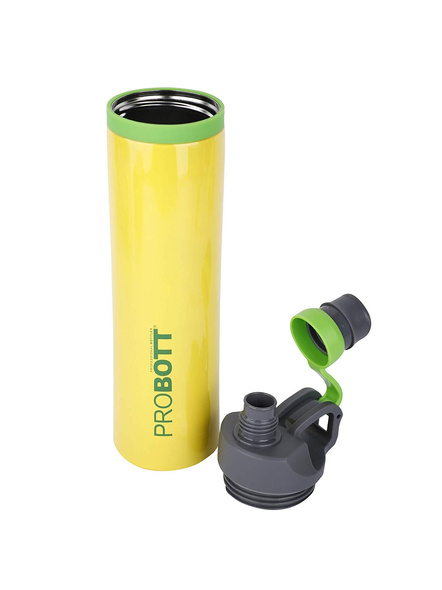 PROBOTT Stainless Steel Double Wall Vacuum Flask Delta Bottle 620ml -PB 620-03 (Colour May Vary)-YELLOW-4