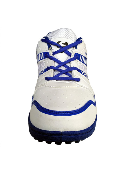 SG SHIELD X 2 CRICKET SHOES-WHITE/BLUE-9-5