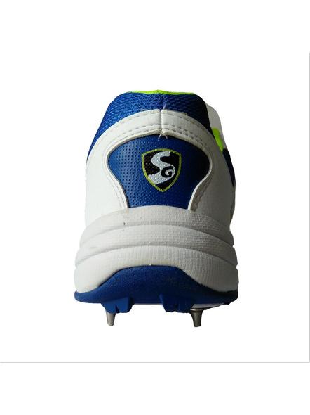 SG SIERRA CRICKET SHOES-WHITE/LIME/R.BLUE-9-4