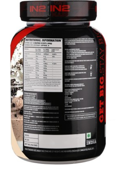IN2 MASS 1.2 Kg MASS GAINER-COOKIE AND CREAM-1.2 Kg-5