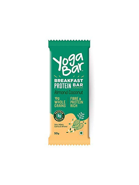 YOGA BAR BREAKFAST BAR 50 GM MEAL REPLACEMENT-ALMOND COCONUT-300 g-2