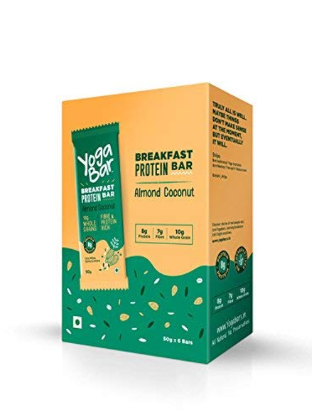 YOGA BAR BREAKFAST BAR 50 GM MEAL REPLACEMENT-ALMOND COCONUT-300 g-3
