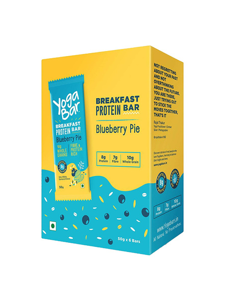 YOGA BAR BREAKFAST BAR 50 GM MEAL REPLACEMENT-BLUE BERRY-300 g-1
