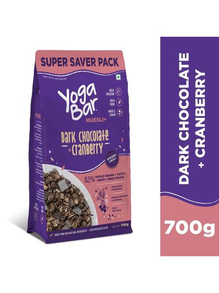 Yogabar Wholegrain Breakfast Muesli-DARK CHOCOLATE CRANBERRY-700 g-3