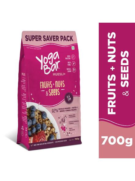 Yogabar Wholegrain Breakfast Muesli-NUTS AND SEEDS-700 g-3