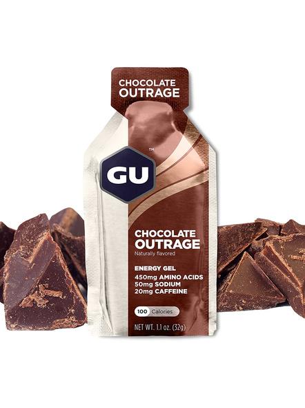 GU GEL GU ENERY GEL PRE WORKOUT pack of 3-CHOCOLATE OUTRAGE-3