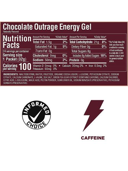 GU GEL GU ENERY GEL PRE WORKOUT pack of 3-CHOCOLATE OUTRAGE-4
