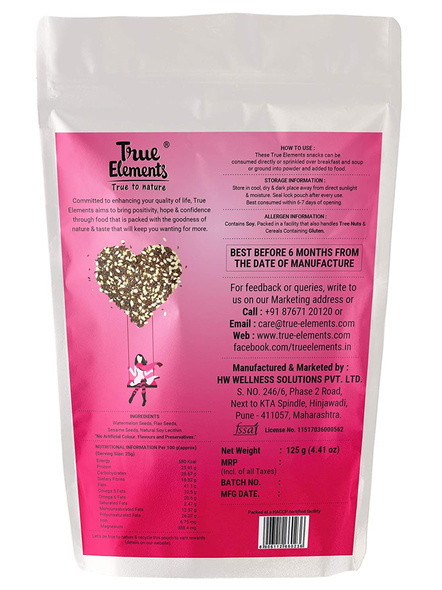 TRUE ELEMENTS PROTEIN OMEGA MIX- 125 GM SEEDS-125 g-4