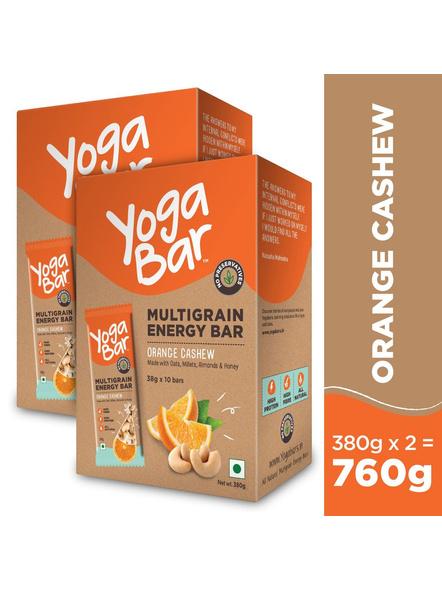 YOGA BAR MULTIGRAIN BAR 38 g MEAL REPLACEMENT-CASHEW ORANGE-380 g-2