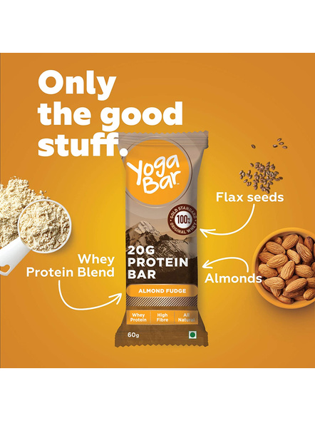 YOGA BAR PROTEIN BAR 60 GM MEAL REPLACEMENT-ALMOND FUDGE-360 g-3