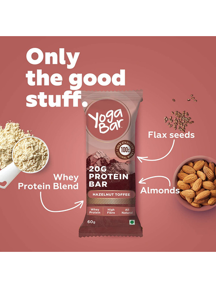 YOGA BAR PROTEIN BAR 60 GM MEAL REPLACEMENT-HAZELNUT TOFFEE-360 g-3