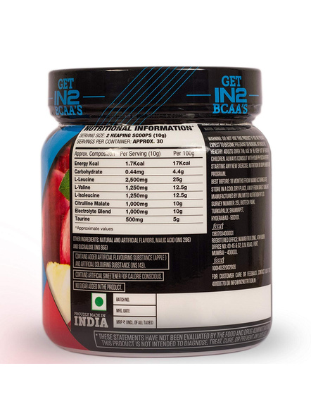 IN2 BCAA-300 g MUSCLE RECOVERY-APPLE-300 g-30-5