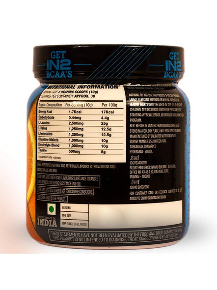 IN2 BCAA-300 g MUSCLE RECOVERY-ORANGE-300 g-30-5