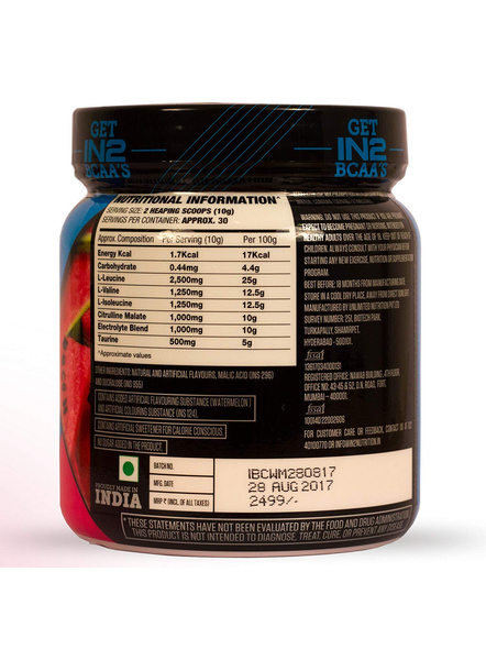 IN2 BCAA-300 g MUSCLE RECOVERY-WATERMELON-300 g-30-5