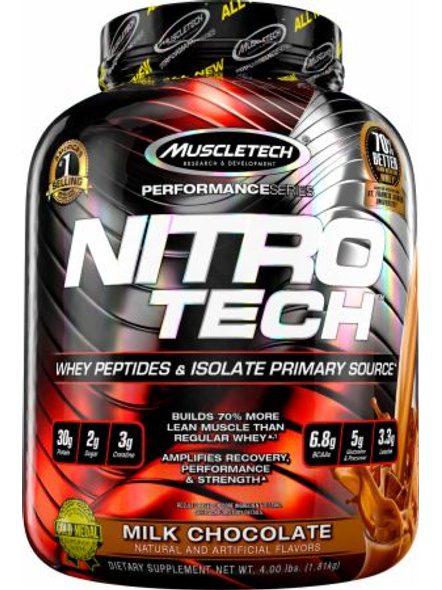 MUSCLETECH NITROTECH 4 LBS WHEY PROTIEN ISOLATE-MILK CHOCOLATE-4 Lbs-1