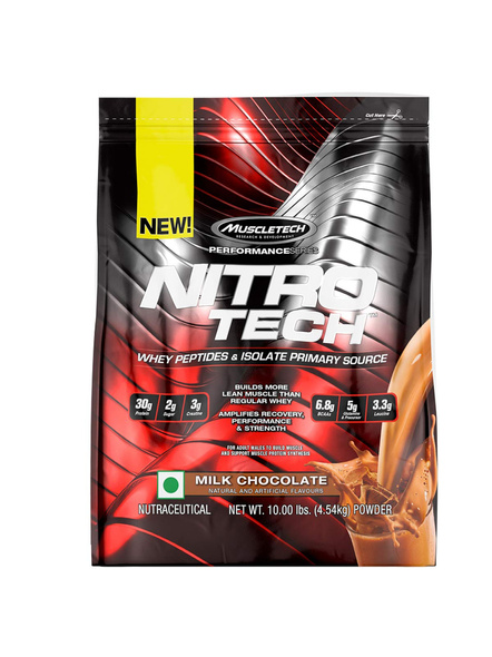 MUSCLETECH NITROTECH PERF SERIES 10 LBS WHEY PROTIEN ISOLATE-MILK CHOCOLATE-10 Lbs-3