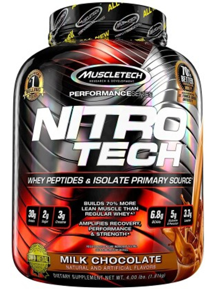 MUSCLETECH NITROTECH PERF SERIES 5 LBS + CREATINE 400G WHEY PROTIEN ISOLATE-MILK CHOCOLATE-5 Lbs-1
