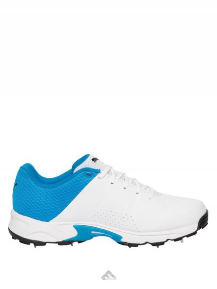 PUMA 105510 CRICKET SHOES-White/blue-7-3