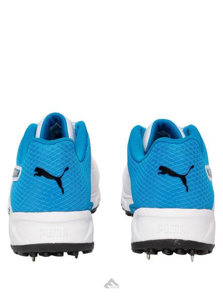 PUMA 105510 CRICKET SHOES-White/blue-7-5
