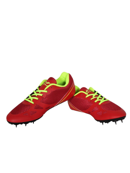 Nivia Men's Spikes Spirit Synthetic Running Shoes-2-Red-3