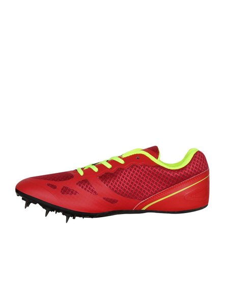 Nivia Men's Spikes Spirit Synthetic Running Shoes-2-Red-4