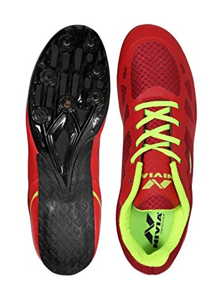 Nivia Men's Spikes Spirit Synthetic Running Shoes-2-Red-5