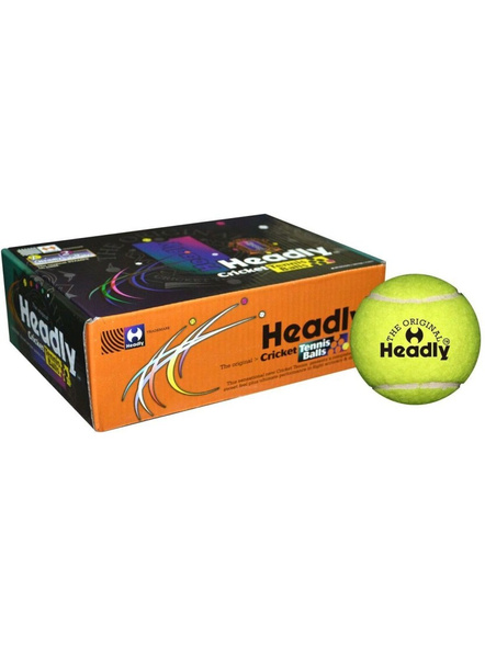 Headly Heavy Cricket Tennis Ball (pack Of 6, Yellow)-7