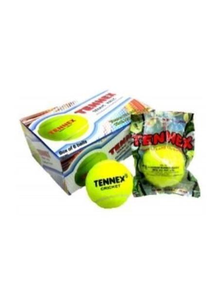 Tennex Light Weight Cricket Soft Tennis Ball (pack Of 6)-6