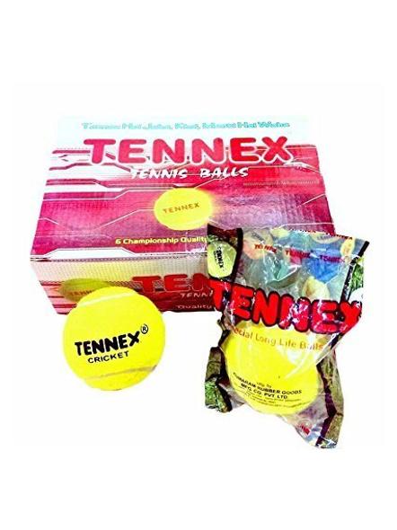 Tennex Cricket Tennis Ball Yellow Heavy-11