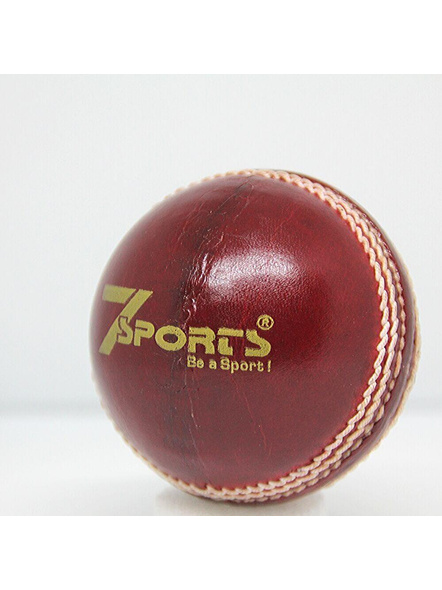 Competent Yo Kids Leather Cricket Ball-RED-1 Unit-1