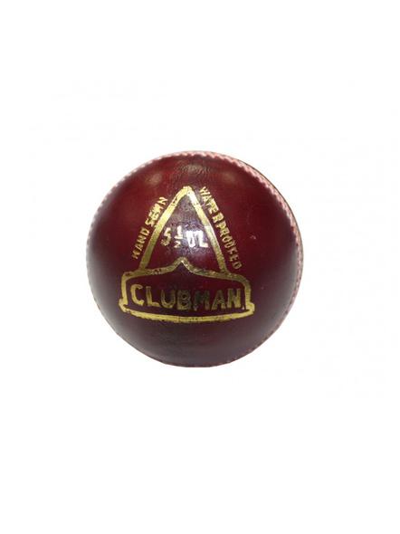 Grasshopper Clubman Cricket Season Ball-RED-1 Unit-1