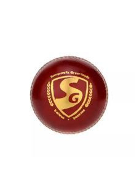 Sg Shield 20 Red Leather Cricket Ball-RED-1 Unit-1
