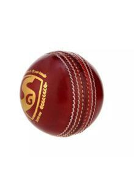 Sg Shield 20 Red Leather Cricket Ball-RED-1 Unit-2