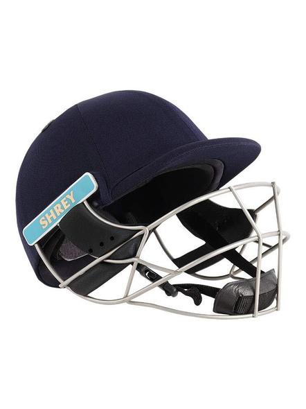 Shrey Master Class Air Stainless Steel Cricket Helmet-NAVY-1 Unit-L-1