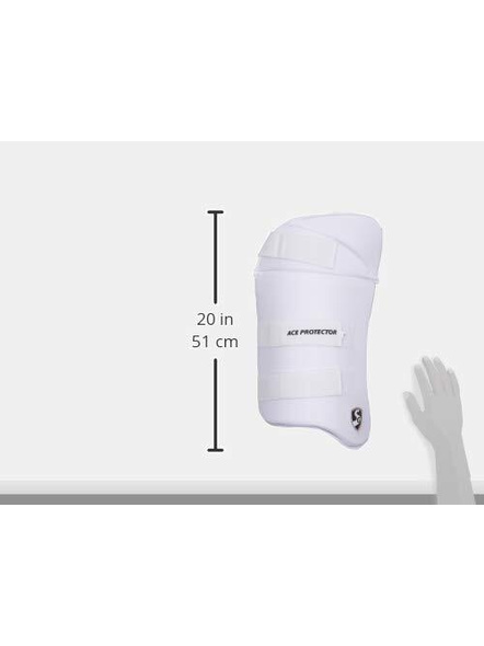 Sg Combo Ace Protector White Rh Thigh Pad-1 Unit-MENS-2