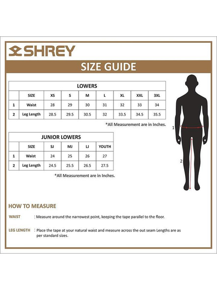 Shrey Match Trouser Cricket Pant-OFF WHITE-M-2