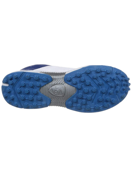 Sg Club 3.0 Cricket Shoes-WHITE AND R.BLUE AND AQUA-1 pair-10-2