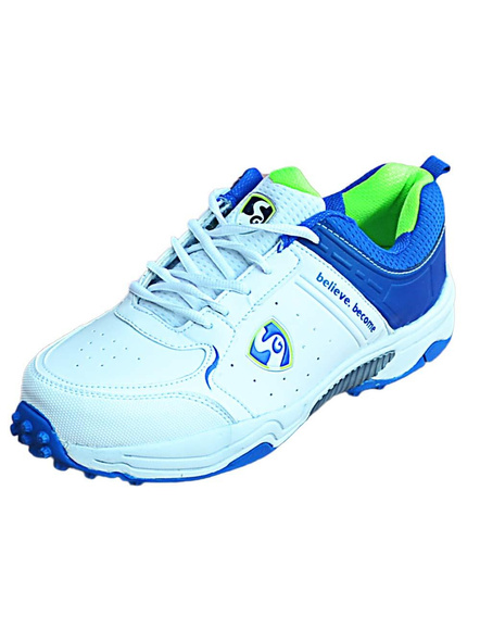 Sg Club 3.0 Cricket Shoes-1 pair-WHITE AND R.BLUE AND LIME-5-1