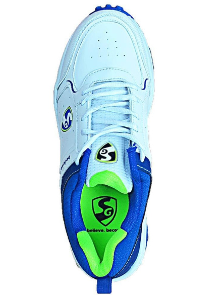 Sg Club 3.0 Cricket Shoes-WHITE AND R.BLUE AND LIME-1 pair-10-2