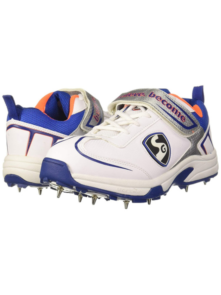 Sg Xtreme 4.0 Cricket Shoes-WHITE AND BLUE-1 pair-6-1