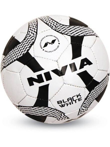 Nivia Black & White Fb-278 Football - Size: 5 (pack Of 1, Black)-396