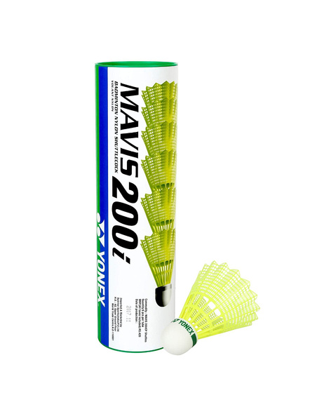 Yonex Mavis 200 I Badminton Cock-GREEN YELLOW-Nylon-1 Tube-1