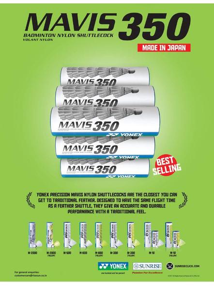 Yonex Mavis 300 Badminton Cock-GREEN YELLOW-Nylon-1 Tube-1