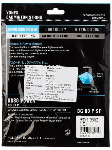 Yonex Bg 80 Power Badminton Gutting-ORANGE-.-1