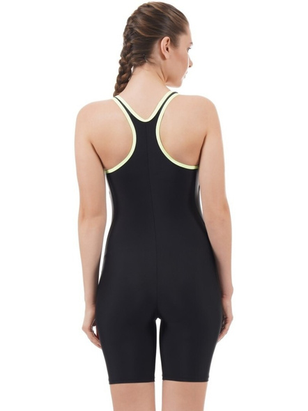 Speedo Essential Splice Racerback Legsuit Solid Women Swim-dress Black, Grey Swimsuit-38-2