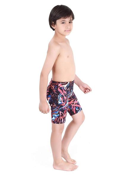 Tyr Boys In Penello Jammer Swim Costumes Boys Jammer-Multi Black-24-1