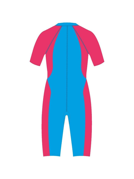 Tyr Kids In Aerofit Kneesuit Swim Costumes Girls Legsuit (colour May Vary)-Black / Red-28-1
