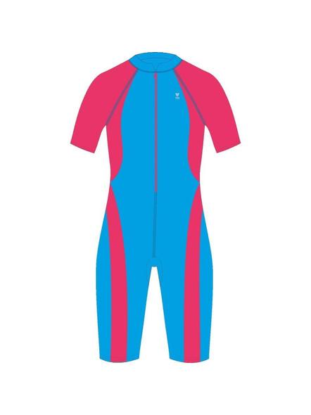 Tyr Kids In Aerofit Kneesuit Swim Costumes Girls Legsuit (colour May Vary)-24565